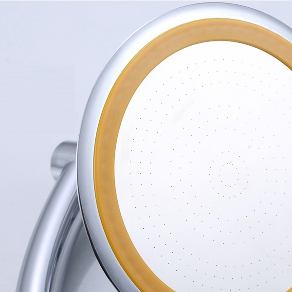 Hand Shower Rainfall Water-Saving Shower Head Rotate 360 Degrees Booster Universal Cap