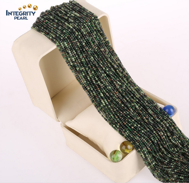 Wholesale Natural Jasper Loose Strand Size 2mm 3mm Natural Jade Gemstone