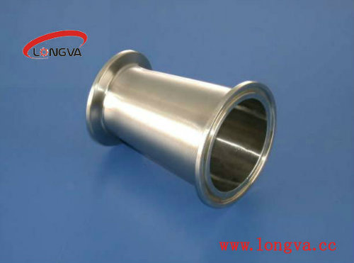 Sanitary Stainless Steel Pipe Fitting Clamped Eccentric Reducer