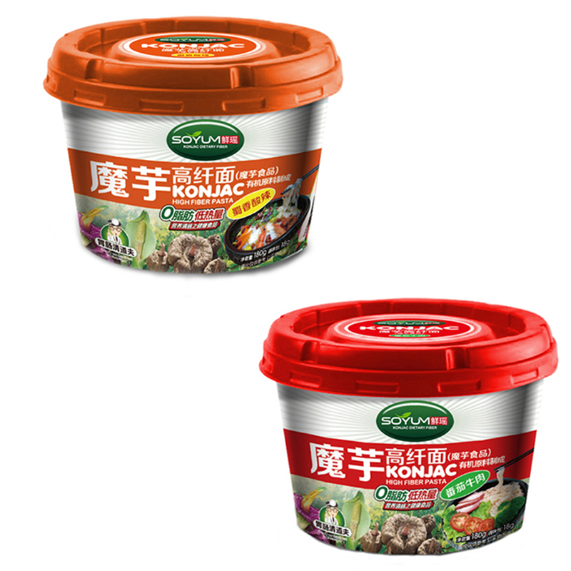 Shirataki Konjac Instant Cup Noodles with Seasonings