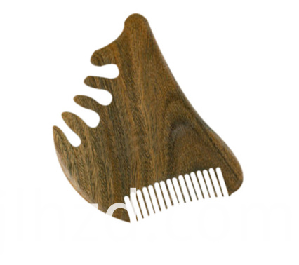 wooden massage comb