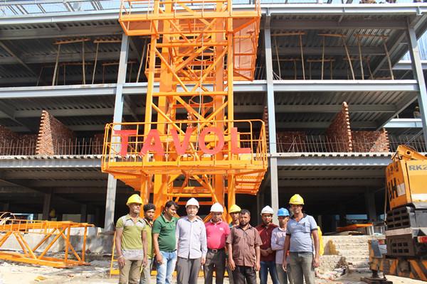 China Tavol Qtz250 7030 Ce ISO with 16t 70m Boom Topkit Crane Tower