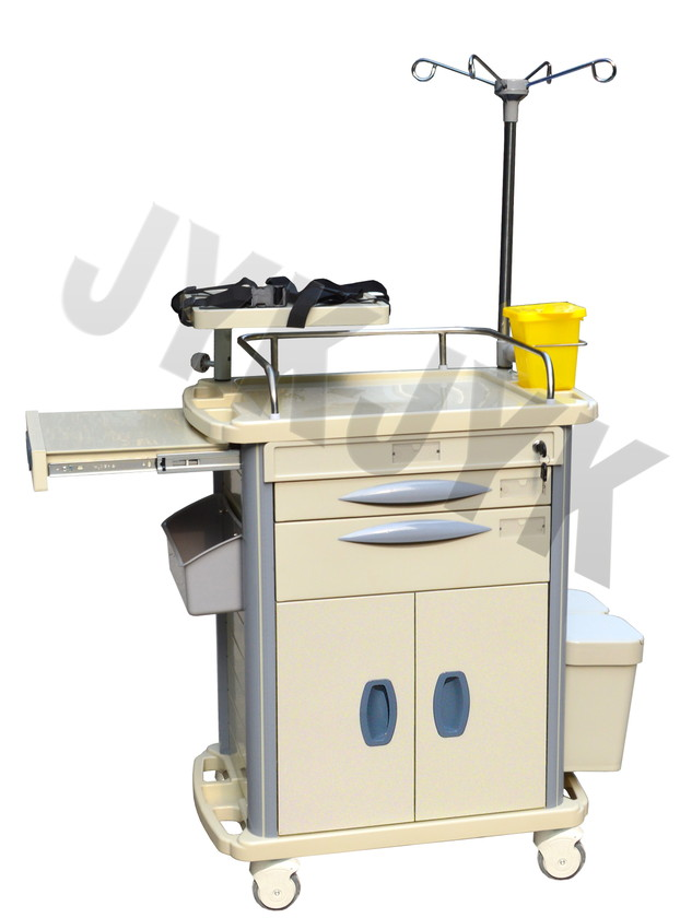 Medical ABS Emergency Trolley Jyk-C10b-1