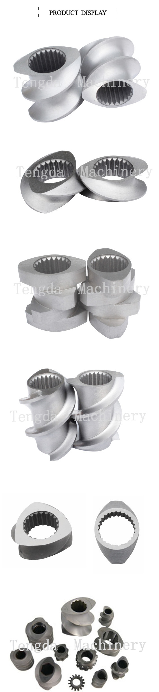 Screw and Barrel for Plastic Recycling Machine