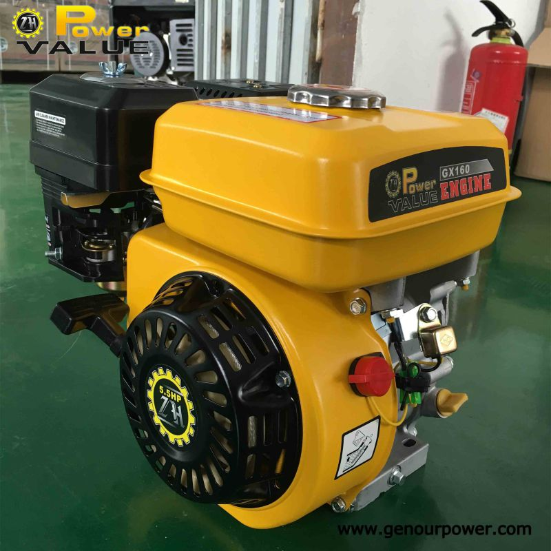 6.5HP Gasoline Engine Gx160 with Ohv Structure Universal Shaft for Dealer