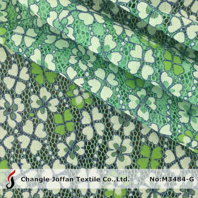 New Two Color Cotton Polyester Cord Lace Fabric for Garment (M3484-G)