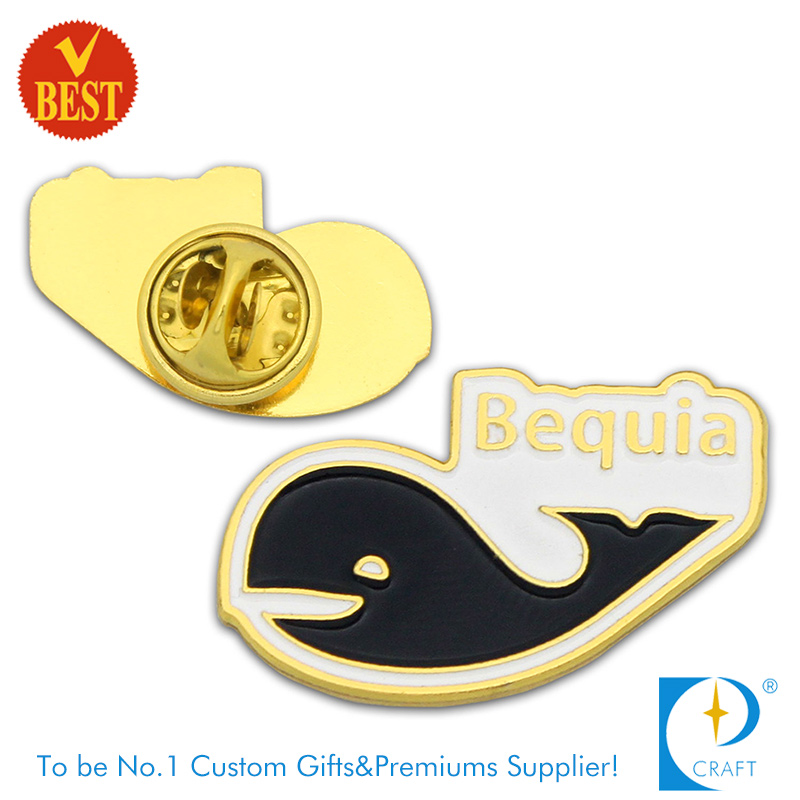High Quality Customized Cheap Imitation Enamel Pin Badge with Gold Plating