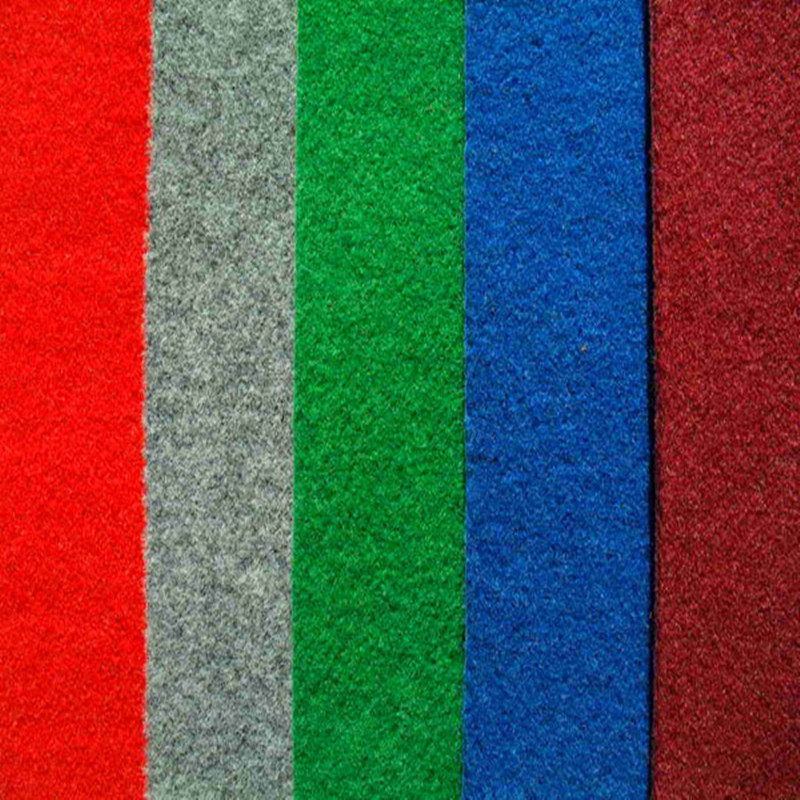 Polyester Non-Woven Plain Red Exhition Carpet