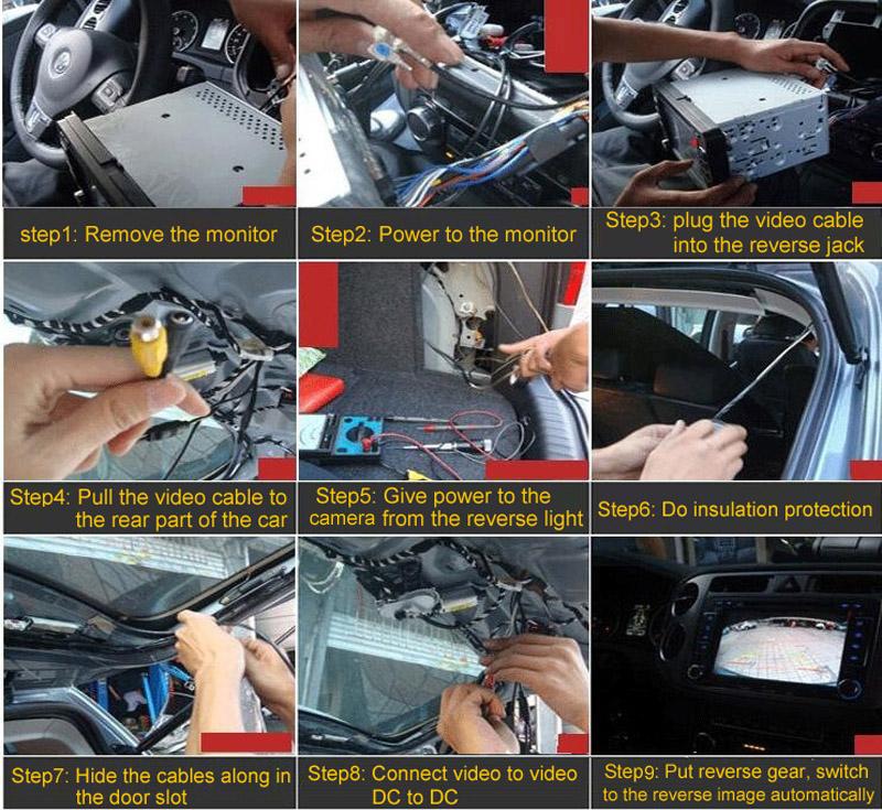 7inches LCD Digital Screen Mirror Monitor with Car Mini Camera
