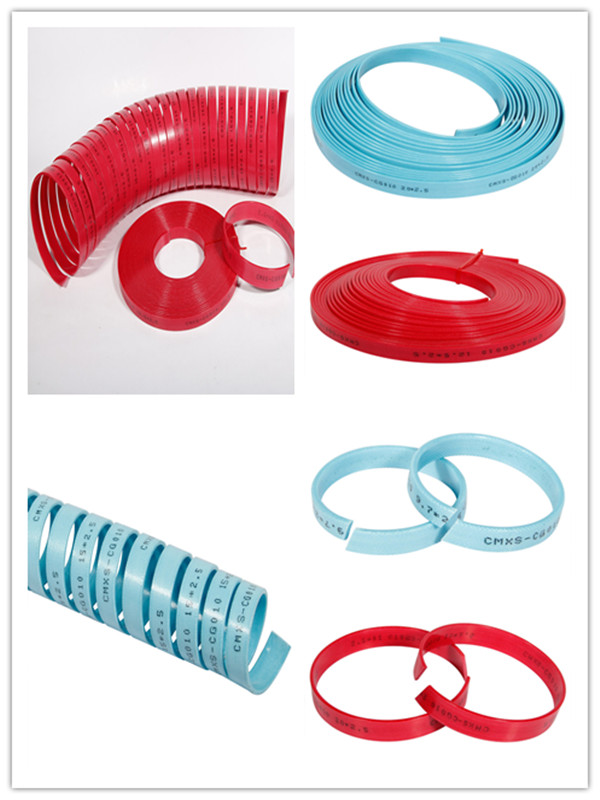 Red/Blue Polyester Resin with Fabric Wear Tape/Ring Gst