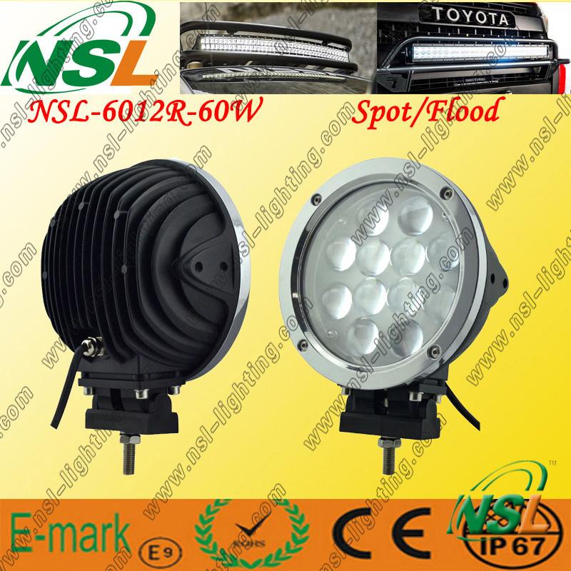 12PCS*5W LED Work Light, 5100lm LED Work Light, 60W LED Work Light for Trucks