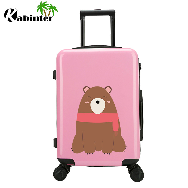 Customized Logo Trolley Luggage with Zip Travle Luggage Bag Travel Bag