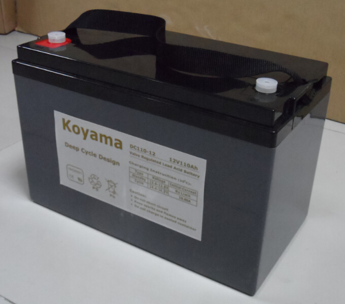 12V 110ah Deep Cycle AGM Battery for RV / Medical Mobility