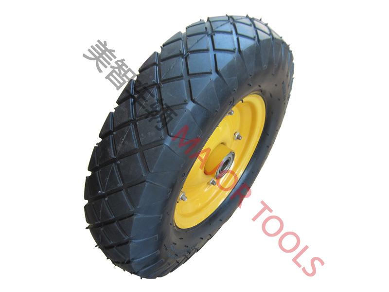 16 Inch Trolley Barrow Pneumatic Rubber Wheel Tire 4.00-8
