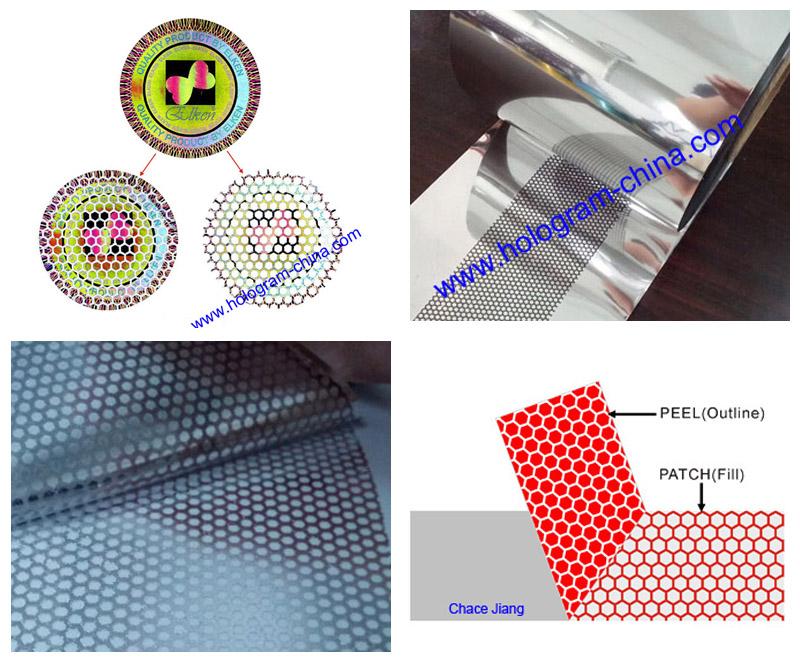 Tamper Evident Embossing Honeycomb Foil