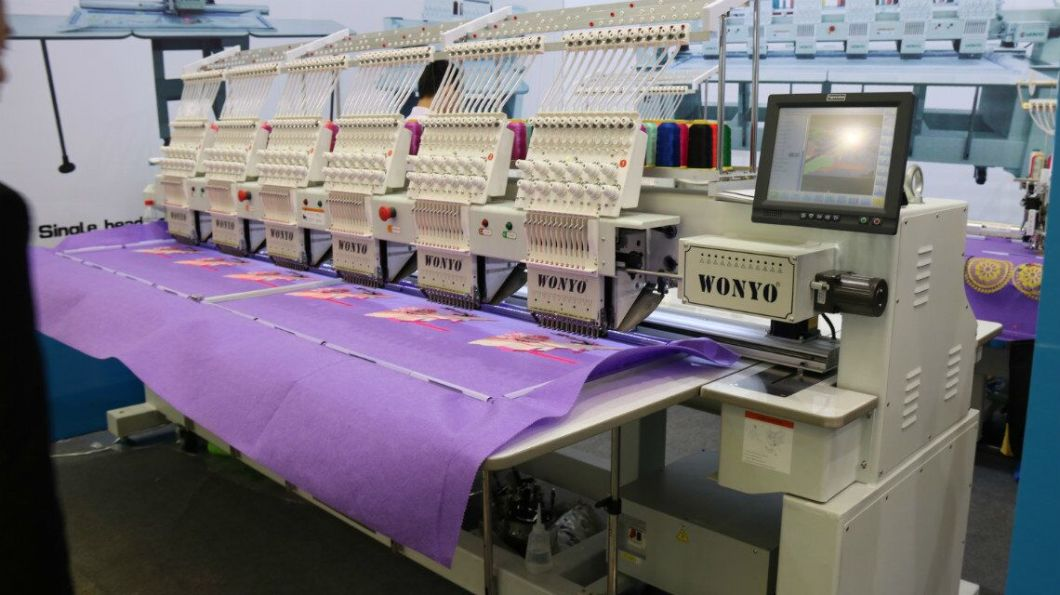 6 Head High Speed Embroidery Machine for Cap & T Shirt Wy1206CH