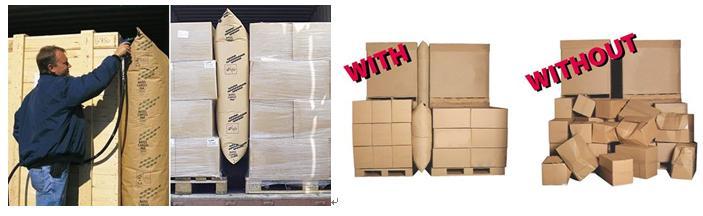 Avoid Transport Damages Fill Kraft Paper Dunnage Air Bag