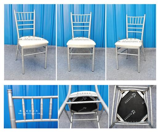 Banquet Party Silver Aluminum Stacking Chiavari Chair (YC-A48)