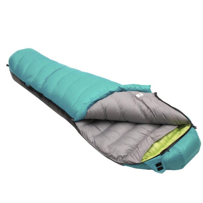 Camping Duck Down Adult Mummy Waterproof Sleeping Bag