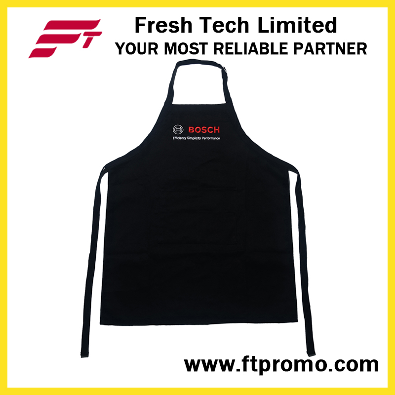 100% Polyester/Cotton OEM Custom Printed Promotional Kitchen Bib Apron