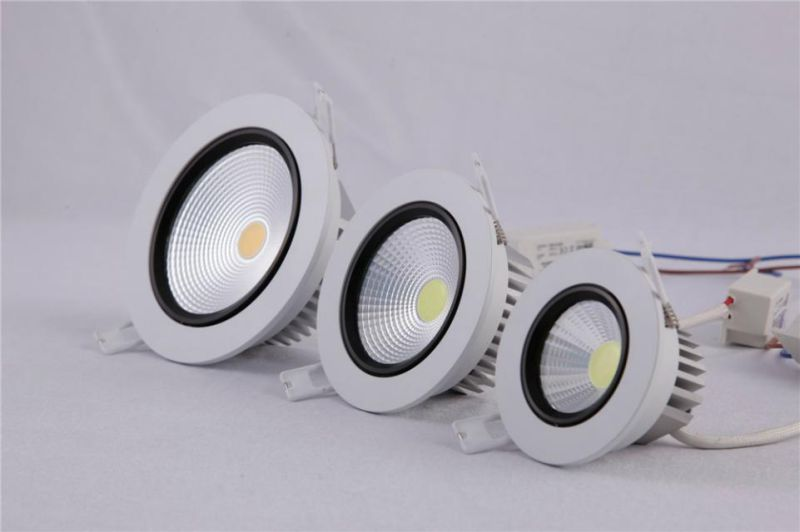 360 Degree Adjustable Square COB LED Down Light White AC85-265V