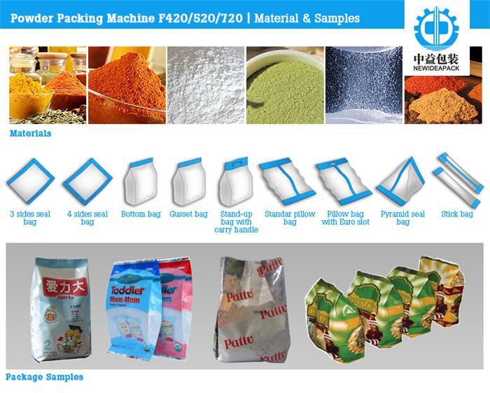 Automatic Sachet Powder Packaging Machine (ND-F420/520/720)