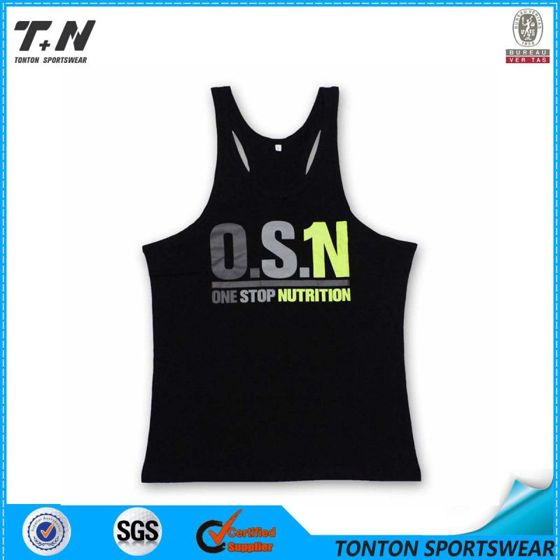 Custom Dri Fit Blank Gym Mens Stringer Singlet