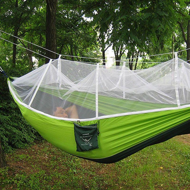 2017 Fashion Handy Parachute Hammock Fabric Mosquito Net Camping Hammock Single Person Portable Indoor Outdoor Camping Hangmat