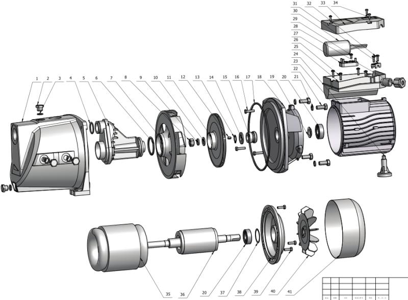 1 HP Water Jet Pump Jcp Seires Single Phase Motor Self-Priming Water Pump