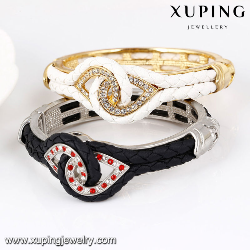 Bangle-64 Fashion Nice Rhinestone Jewelry Wrap Bangle in Gold-Plated