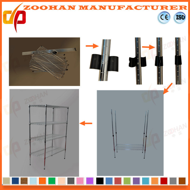 3 Shelving Chrome Kitchen or Baked Wire Shelving Rack (Zhw8)