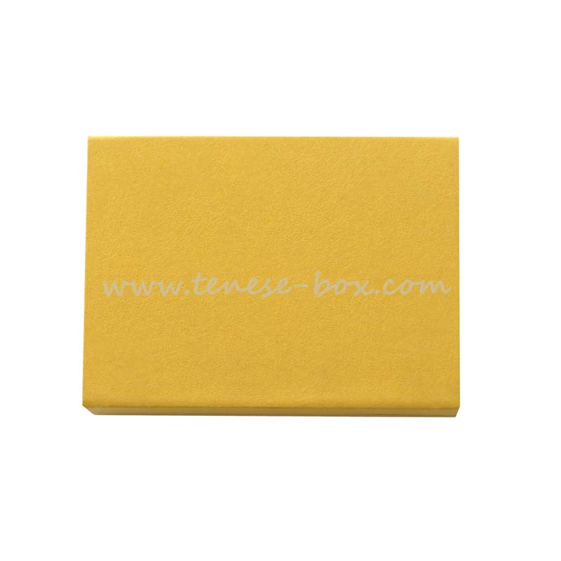 Golden Art Paper Elegant Jewelry Simple Gift Box