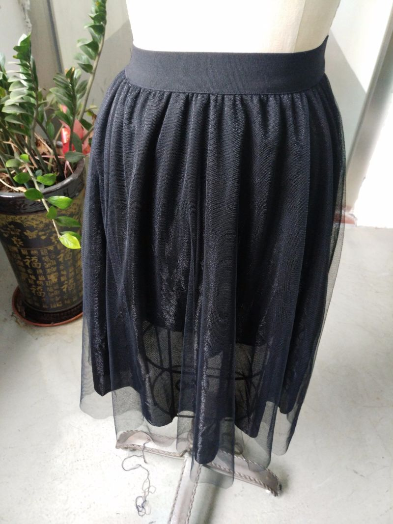 Pure Pleated Yarn Fashion Ladies Skirt
