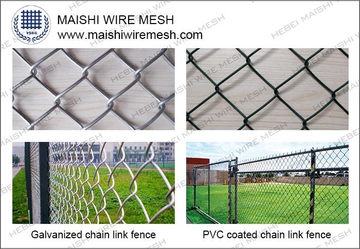 Diamond Hole Shape Chain Link Fence