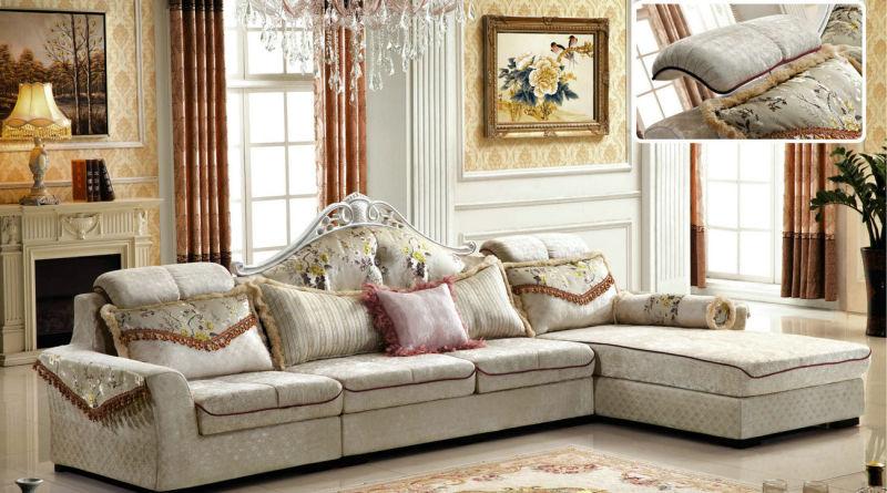 New Classic High Quality Living Room Fabric Sofa 2162A