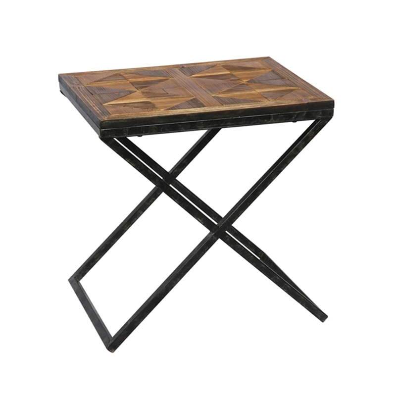 American Display Wood Small Square Coffee Table
