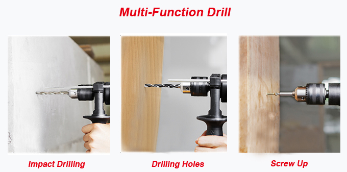 810W 13mm Woodworking Machine Drill Electric Hand Drill (AT7212)