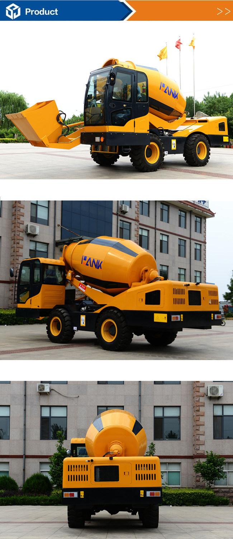 4.0cbm Mobile Concrete Mixer Self Loading Popular Model in Asia
