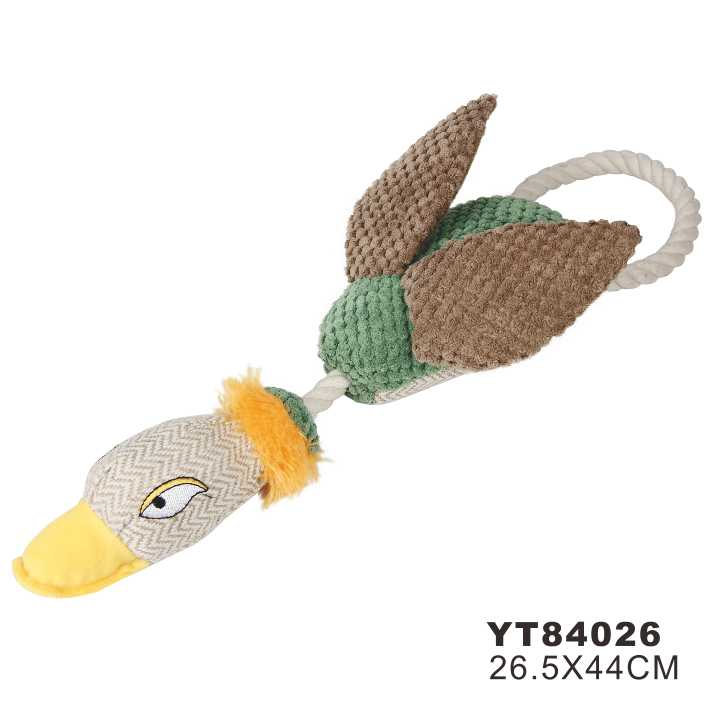 Squeaky Stuffed Plush Dog Toy Duck (YT84026)