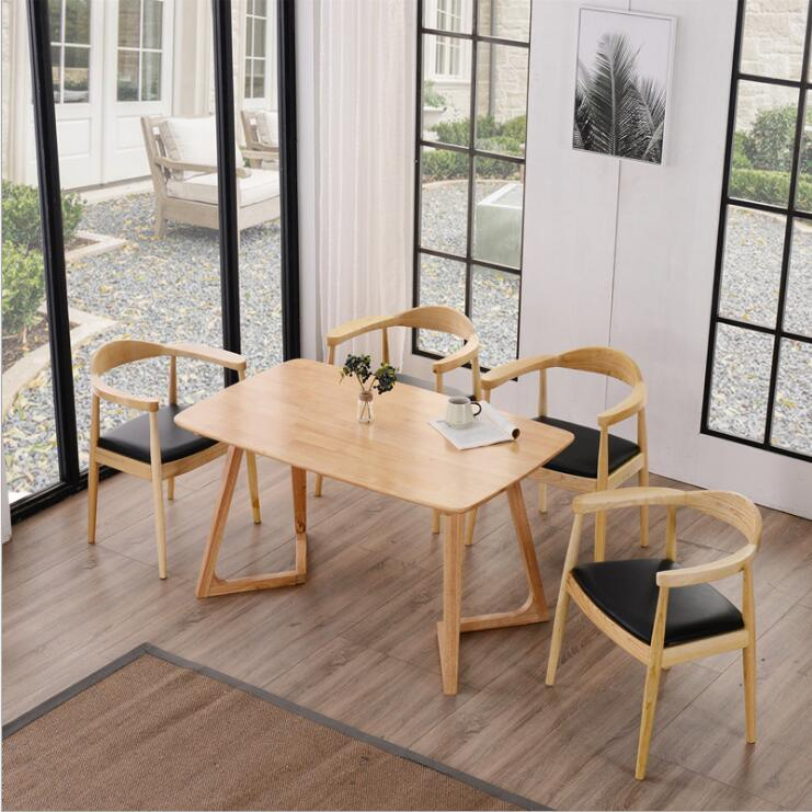 2018 Hot Sales Outdoor Leisure Garden Dining Table Chair for Wooden
