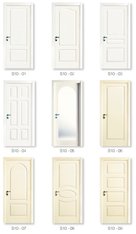 Simple Style Craftsman MDF Composite Door Caved by CNC Machine