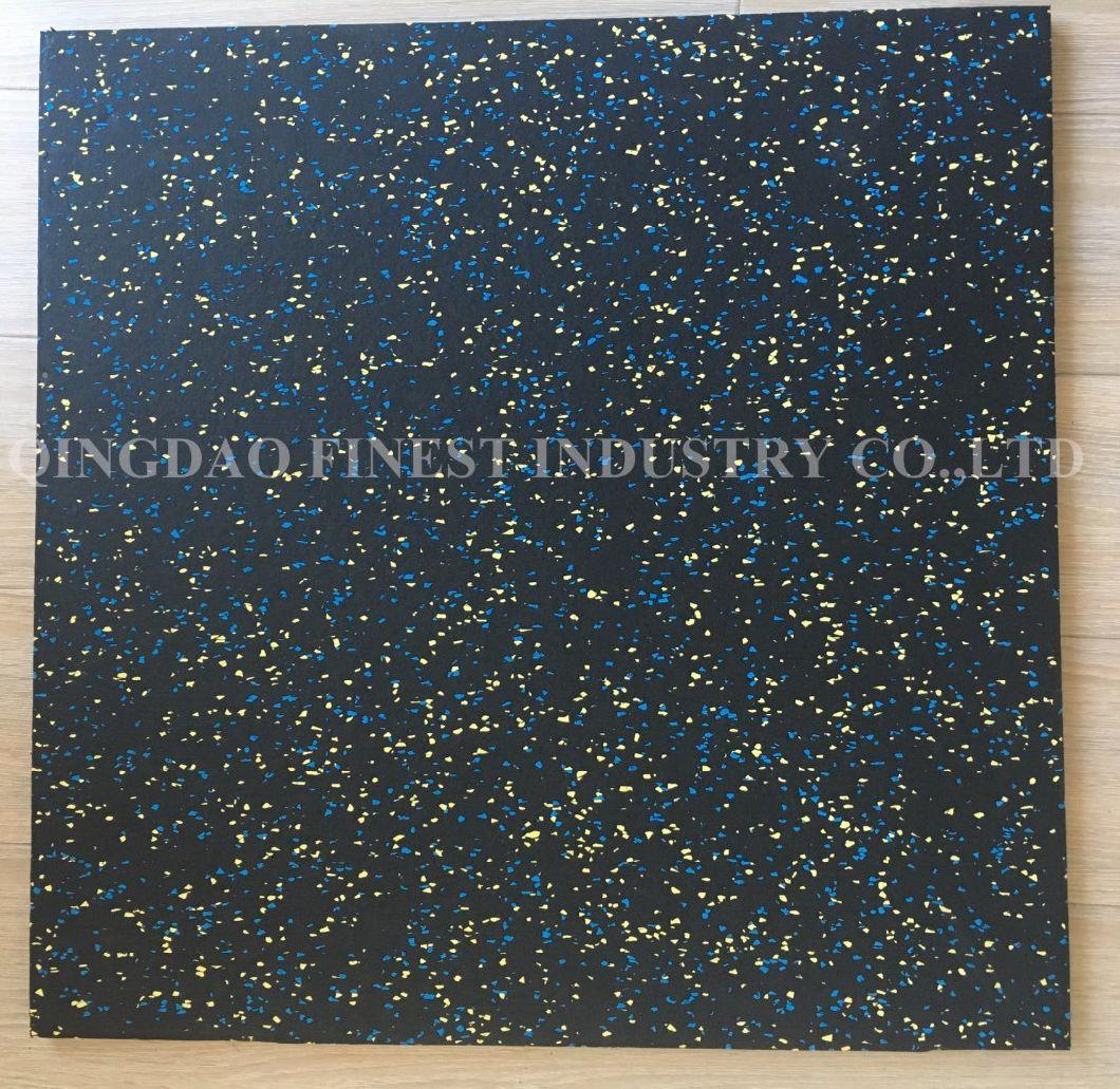 China Poreless Surface Rubber Tile /Premium Rubber Floor/Rubber Mat Floor Tile for Fitness
