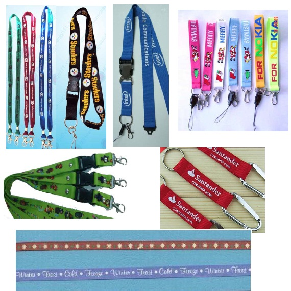 Tubular Lanyard with Custom Printed Logo for Promotion Gifts