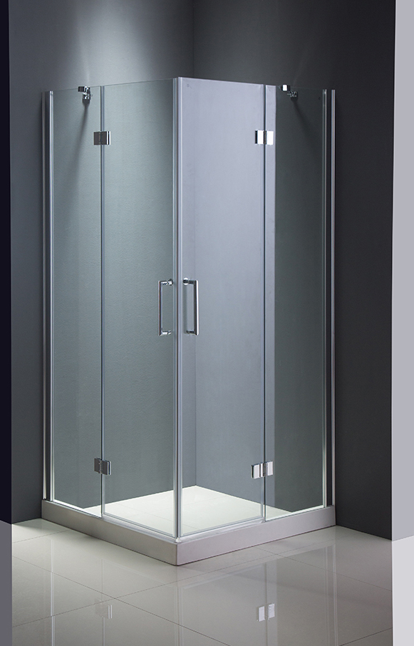 Square Shower Enclosure Tempered Glass Door