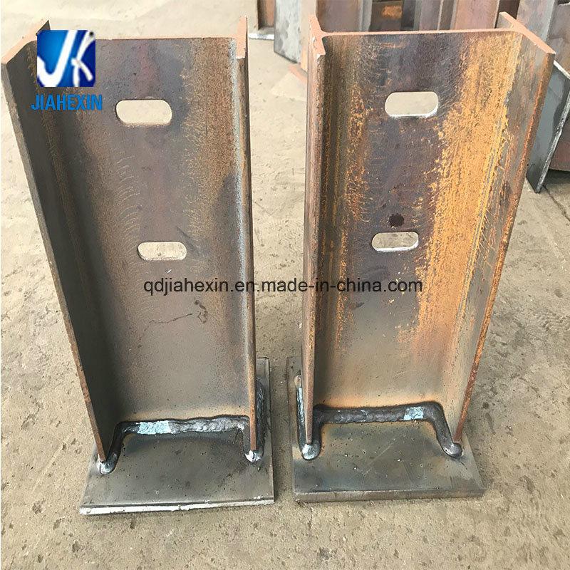 Welded Steel Fabrication H Bracket Column