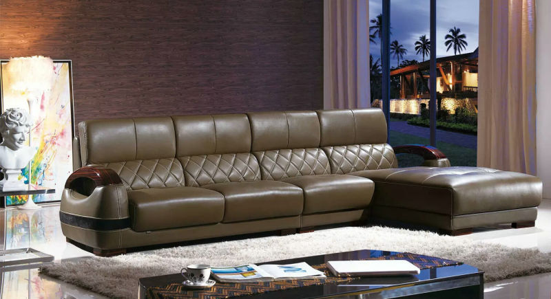 Ciff Living Room Furniture, Modern Leather Sofa (K8020)