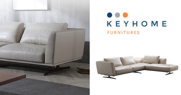 Hotel Furniture L Shape Leather Sofa for Lobby Area