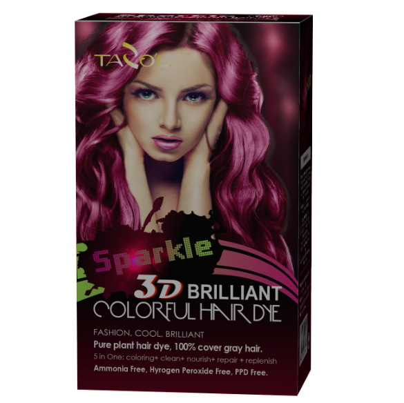 2016 Newest Sparkle 3D Brilliant Colorful Hair Color Cream