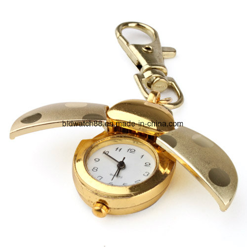 Antique Bronze Key Necklace Pendant Clock Watch for Kids