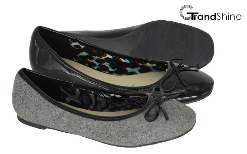 Women's Fashion with Bow Basic Flat Ballet Shoes